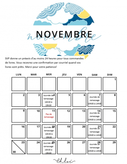 Nov pickup schedule fr